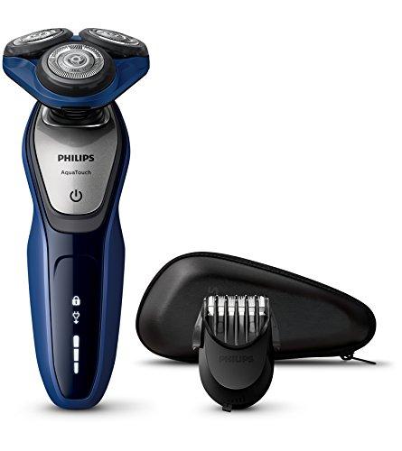 Philips AquaTouch S5600/41 - Rasoio elettrico AquaTec Wet & Dry con lame MultiPrecision,Testina Flex 5 direzioni e Sistema di protezione della pelle + Regolabarba 5 lunghezze