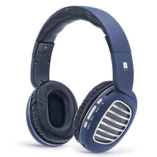 (Renewed) iBall Decibel BT01 Smart Headset with Alexa Enabled (Blue, Black and Silver)