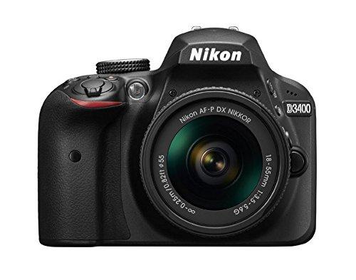 Nikon D3400 24.2MP CMOS 6000 x 4000Pixeles Negro - Cámara digital (Auto, Nublado, Direct sunlight, Flash, Fluorescente, Incandescente, Sombra, Paisaje, Retrato, Neutral, Vivo, Corriente alterna, Batería, Cuerpo de la cámara SLR, TTL)
