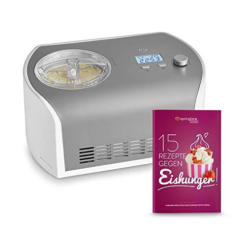 Gelatiera Elli con Compressore Autorefrigerante | 135W, 1.2L | Mantecatore Frozen Yogurt, Sorbetti e...