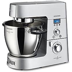 Kenwood KM096 Cooking Chef Impastatrice Planetaria, con Frullatore e Food Processor, 1500 W, Alluminio Pressofuso, Grigio