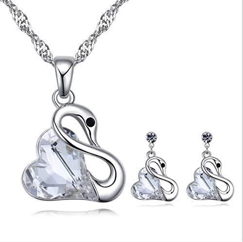 youjiu Crystal Set Zärtlichkeit Swan Ornament