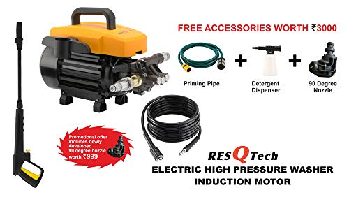 ResQTech Metal 1800W 135 BAR High Pressure Silent Induction Motor Washer (Orange)