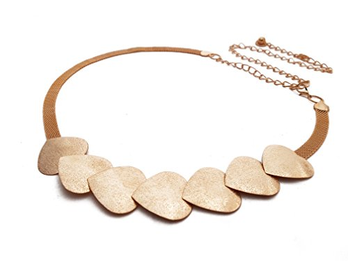 Vritraz New Fashion Style Multi Heart Gold Plated Metal Crystal Pearl Rhinestone Waist Belt Waistband Chain Kamarband for Women