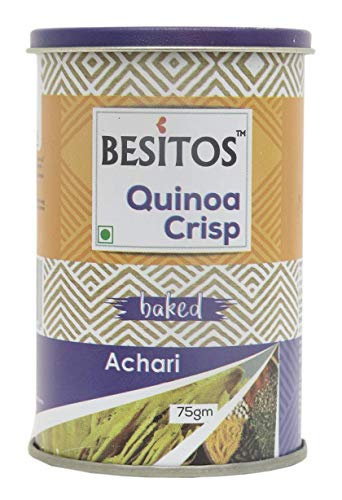 Queens Quinoa Crisps Baked Flavoured with Roasted for Snacks - Pack of 2 (Achari)