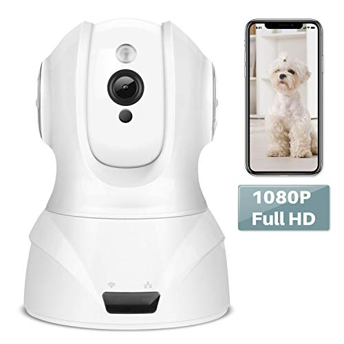 YOHOOLYO Security Camera Wireless 1080p Home IP Camera WiFi with Night Version/Motion Detection/Pan/Tilt/Zoom Camera for Pet/Baby/Elder