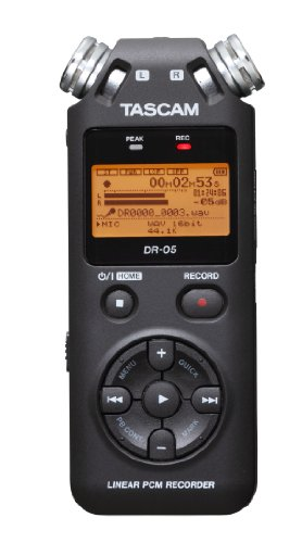 Tascam DR-05 V2 - Registratore Vocale Digitale, Nero + micro SD 4GB