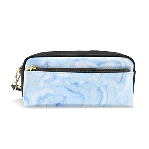 Astuccio portamatite, marmo blu stampato viaggio trucco sacchetto grande capacità impermeabile in...