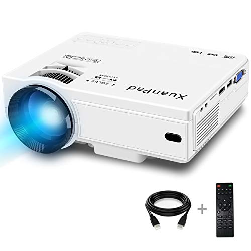 XuanPad Mini Proiettore 2400 Lumens, 55000 ore Portatile Videoproiettore Home Theater Proiettori