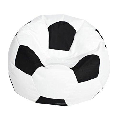 MagiDeal Copertura Elastica in Oxford Stile Calcio Fodere per Poltrona Sacco Copridivano Decorazione da Casa - Bianca