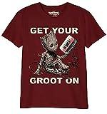 Tee-Shirt Gardiens de la Galaxie Groot Mixtape to Volume 2 Marvel Cotton Red - 152