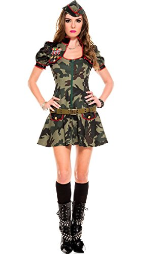 Samgu Mujer Sexy Camuflaje Ejército Militar Disfraz Comando Traje Cosplay Uniforme
