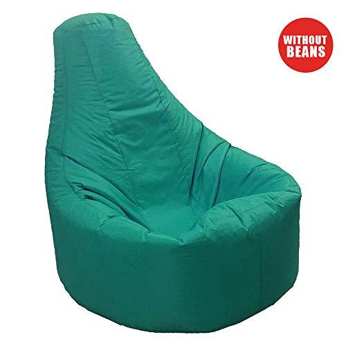 Aikeec, Pouf con schienale alto, per interni ed esterni, per adulti, rilassante, impermeabile e resistente alle intemperie (imbottitura non inclusa nella confezione), Tessuto, verde