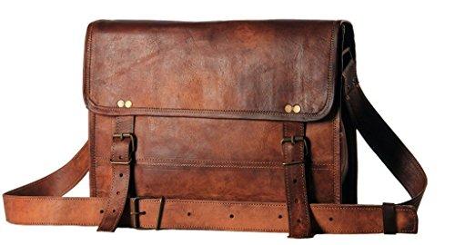 c1c18b68daa8 ... 14″ Inch Men s Genuine Leather Messenger College Macbook Air Pro Laptop  Ipad Tablet Briefcase Satchel Bag. Sale! On Sale