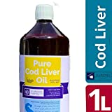 1 Litre Cod Liver Oil Liquid - Feed Grade Fish Oil for Pets and Fishing Bait -