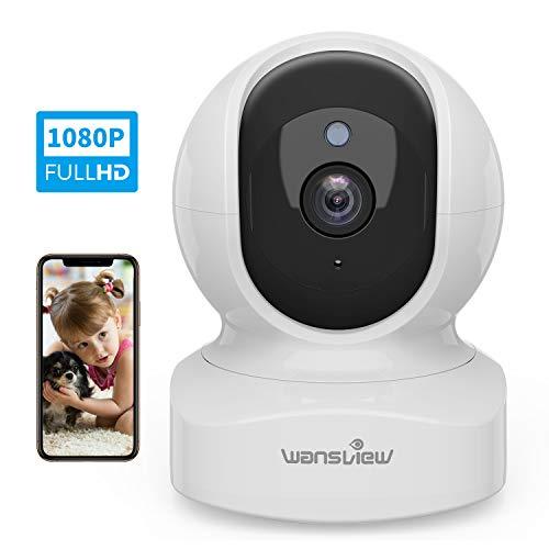 Telecamera di Sorveglianza WiFi, Wansview FHD 1080P Videocamera IP WiFi Interno con Audio...