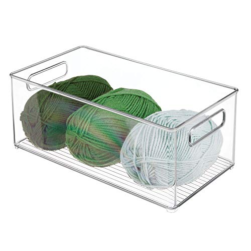 mDesign Contenitore in plastica con Coperchio - Organizer Ideale per Il Materiale per decoupage e...