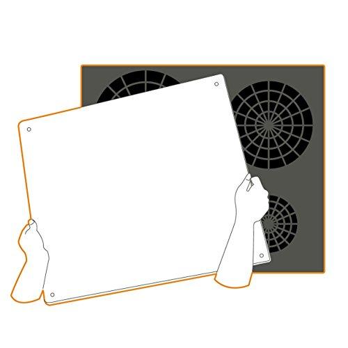 pebbly 99 14ppbig planche de protection pour plaque de cuisson verre tremp noir 57 x 50 cm. Black Bedroom Furniture Sets. Home Design Ideas