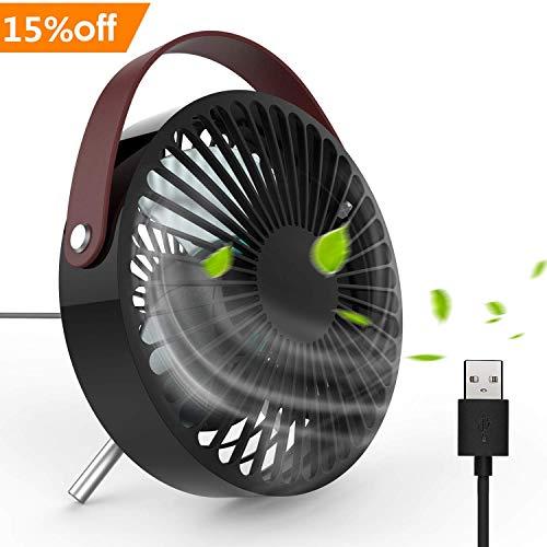 DOUHE Ventilatore USB - Mini Ventilatore USB Moderno Bello Ventilatore da Tavolo, Angolo Regolabile...