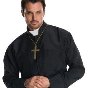 Disfraz de cura para hombre, camisa y accesorios, Talla única adulto (Rubie's 880568)