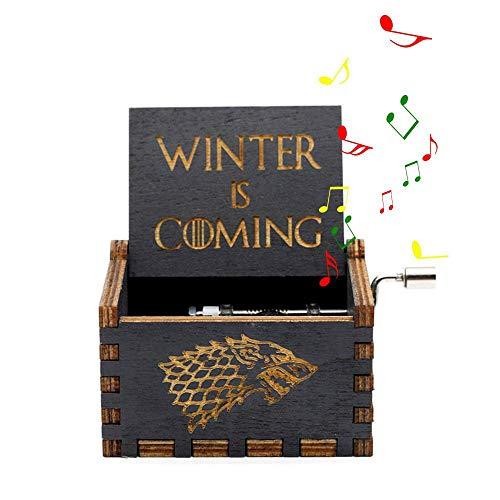 Womdee Mini manovella Carillon in Legno, Bella e la Bestia o Game of Thrones Theme Telefono Antico,...