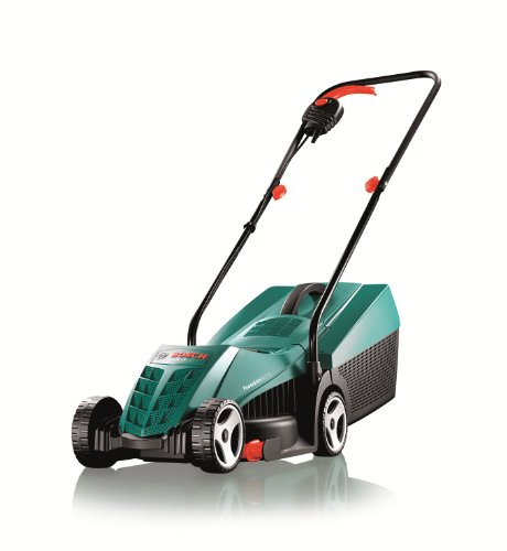 After many hours of research, it soon became clear that the Bosch Rotak 32 R Lawnmower, had everything and more for well under £100.