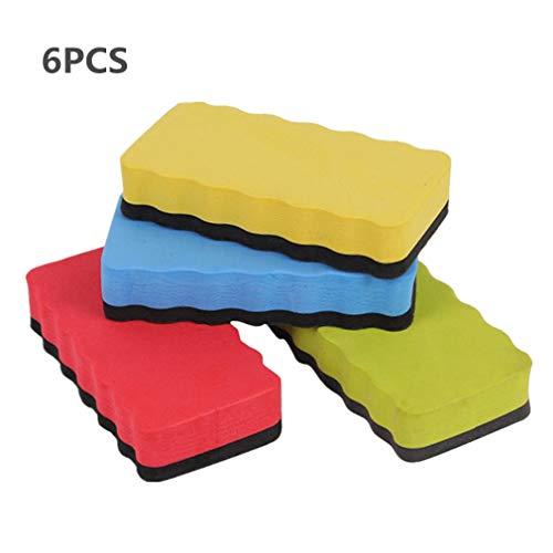 Gomma magnetica per lavasciuga a secco con lavagna bianca per uso in classe per ufficio Confezione...
