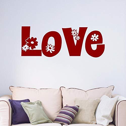 42X113 cm Amor Flores decorativas Adolescentes pareja Habitación matrimonial Dormitorio Sala de estar Inicio Calcomanía Vinilo para ventana