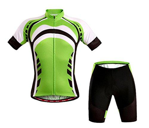 QXF De Manga Corta Trajes Jersey Bicicleta Bicicleta de montaña Equipo de Montar a Caballo Ropa de Verano, XL