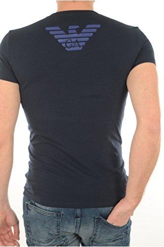 Emporio-Armani-Camiseta-para-Hombre-Azul-Azul-Marino-XL