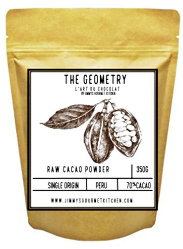 Jimmy's Gourmet Kitchen Cocoa Powder Cacao 70% 350g Single Origin Peru Raw Unprocessed Non-Alkaline