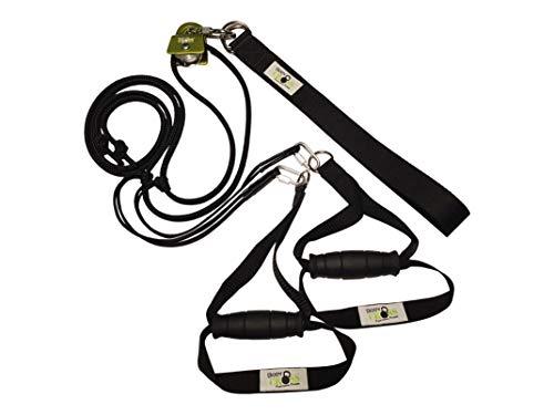 BodyCROSS Premium Schlingentrainer mit Umlenkrolle   inkl. Übungsposter, 10-Wochen Trainingsplan, Türanker und Befestigungsschlaufe   Rotate Sling Trainer   Made in Germany   10 Jahre Garantie