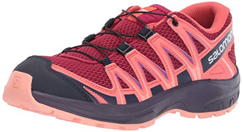 Salomon XA Pro 3D J, Calzado de Trail Running para Niños, Rojo (Cerise/Dubarry/Peach Amber), 34 EU