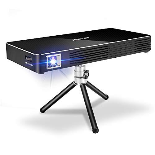 yaufey Mini Proiettore Portatile, WiFi Android 7.1 Video Proiettore DLP, Cinema Domestico 1080P Full...