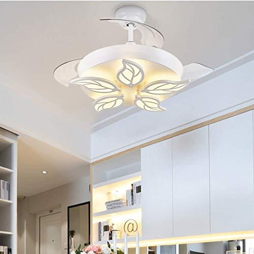 YZPFSD 42' Moderna acrilica ventilatori a soffitto Luce Invisibile a Scomparsa Blades Fan LED...