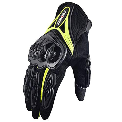 Protezione Touch Screen Rinforzo Guanti Moto,Uomo off Road Full Finger Moto Guanti Moto Mountain...