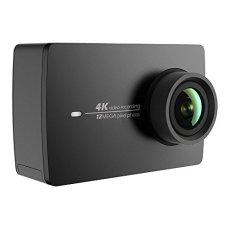 Cámara YI 4K Action / 30 fps, grabación de vídeo 12MP, con ángulo Amplio de 155° de 5,56cm, Pantalla LCD táctil de 2,2 Pulgadas, WiFi y aplicación para móvil, Comando por Voz, ColorNegro