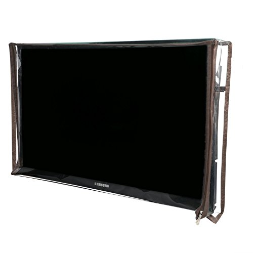 Kanushi Industries Comfort House 32 Inches LED/LCD Television Cover With Stainless Steel Zip Lock(Transparent)