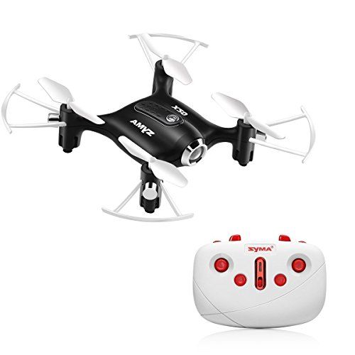 Kiditos Syma X20 Pocket Drone 2.4G 4CH 6Aixs Altitude Hold Mode One Key Tak-Off/Landing RC Quacopter RTF (Black)