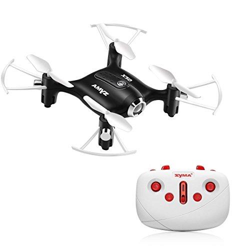Kiditos Syma X20 Pocket Drone 2.4G 4CH 6Aixs Altitude Hold Mode One Key Tak-Off/Landing RC Quacopter RTF (Black)