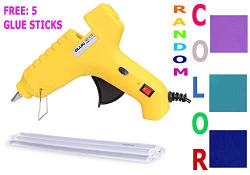 60W 60 WATT HOT MELT Glue Gun with Free 5 Glue Sticks