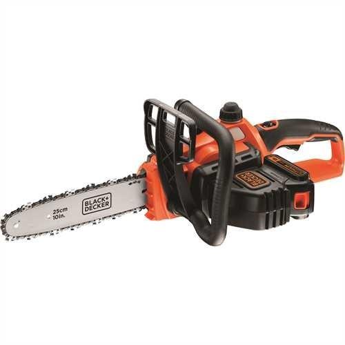 Black+Decker Li Ion Akku-Kettensäge 18V GKC1825L20 mit Akku und Ladegerät - Ideal für Holz- & Gartenarbeiten - 25 cm Schwertlänge