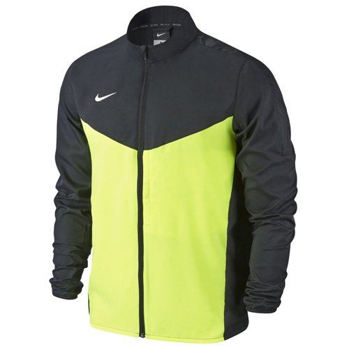 Nike Team Performance Shield - Chaqueta para hombre, Negro / Verde / Blanco (Black / Volt / White), M