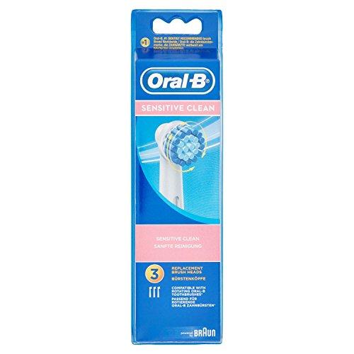 Oral-B Sensitive Clean - Recambios Sensitive Clean para cepillo de dientes eléctrico recargable, modelos aleatorios