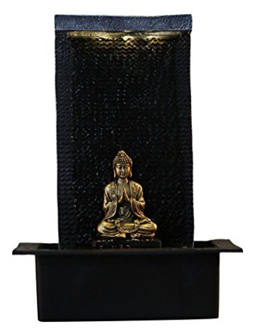 Zen'Light Zenitude Fuente de poliresina Negra 31x 31x 42cm 3