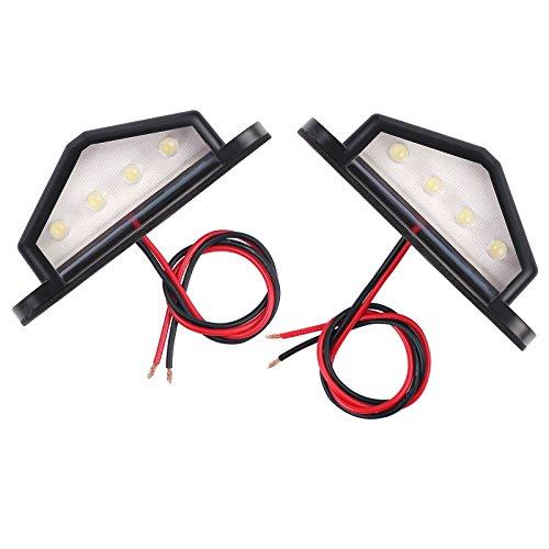 Justech 2 x Luci Targa a LED Luce Targa Bianche fanale LED Posteriori Universale 12V 24V per...