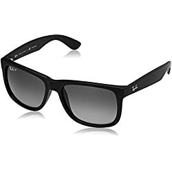 Ray-Ban Gradient Rectangular Men's Sunglasses - (0RB4165622/T355|53.9|Polar Grey Gradient lens)