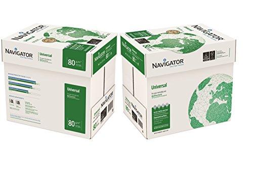 NavigatorUniversal-Papier, A4, 80g/m² 10x Reams (5,000 Sheets) - 2x Box