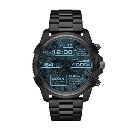 Diesel Herren Digital Quarz Uhr mit Edelstahl Armband DZT2007