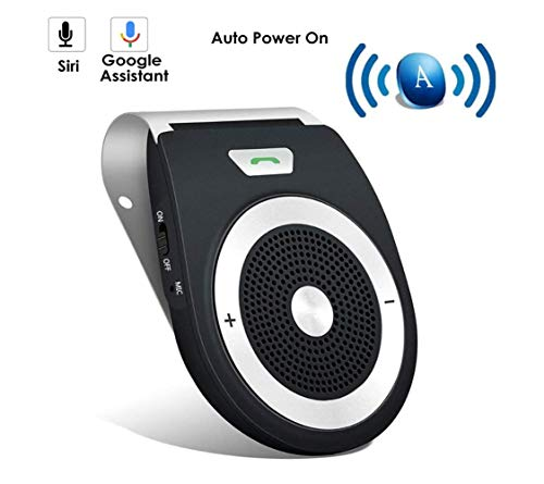 YUNJIN Vivavoce Bluetooth 4.1 da Auto con Controllo Vocale, Car Bluetooth per Speakerphone, Senza...